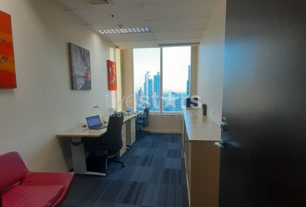 Spacious fully-furnished office 4 workstations for rent on Asoke